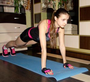 A Woman Doing Plank