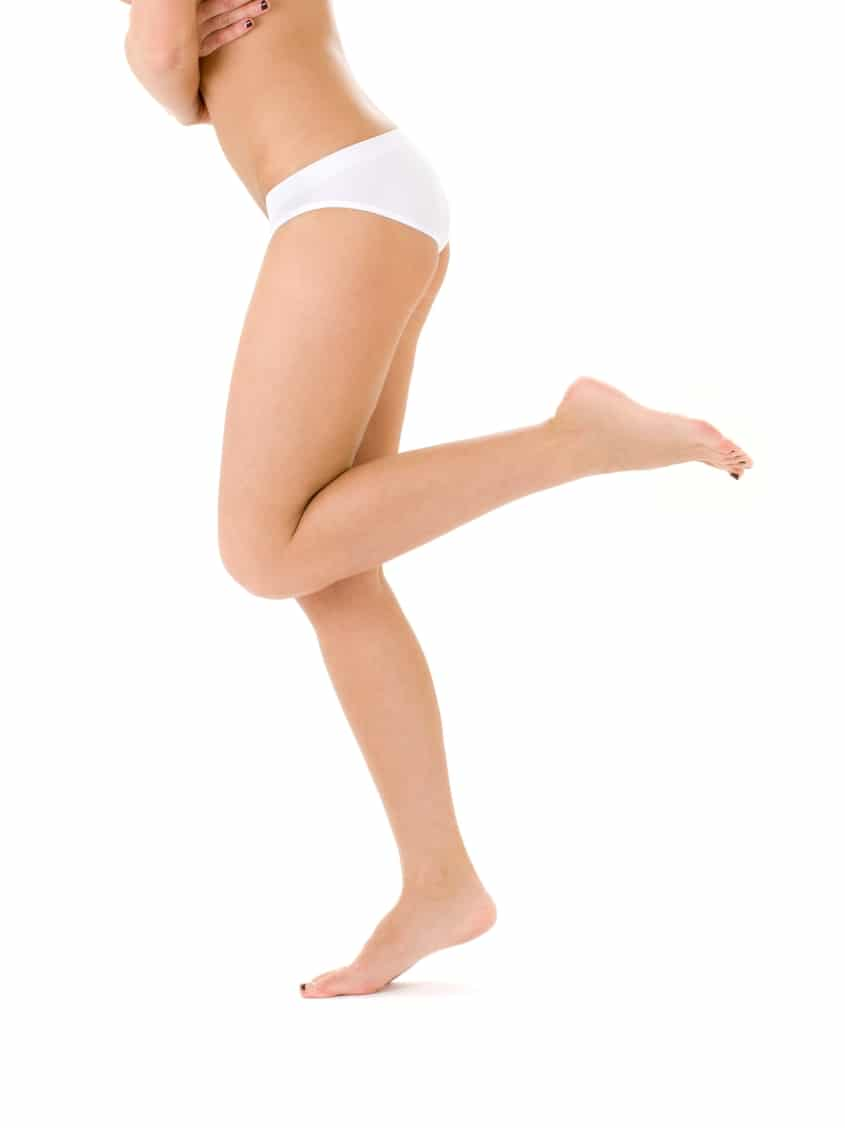 Healthy legs without cellulite