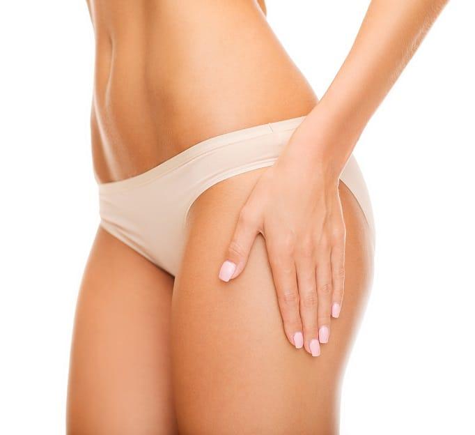 woman in cotton underwear - no cellulite