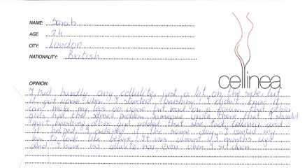 Letter about Cellinea