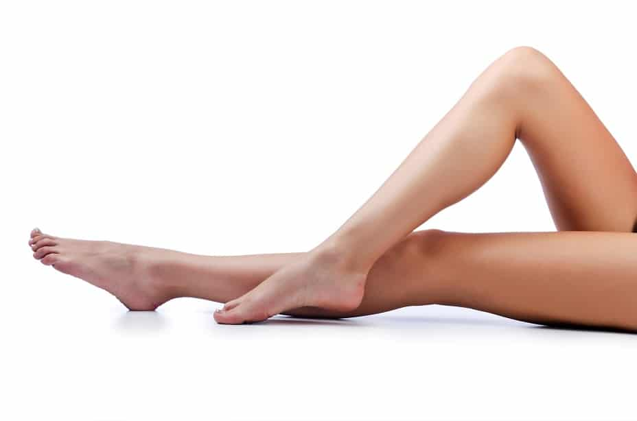 A woman's beautiful legs without cellulite