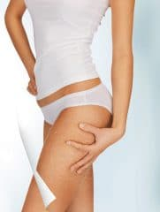 picture of woman in cotton underwear showing legs without cellulite