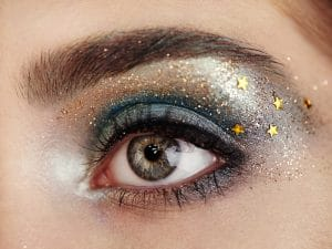 Beautiful woman eye with perfect eyelashes.