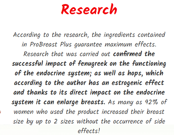 ProBreast Plus Research