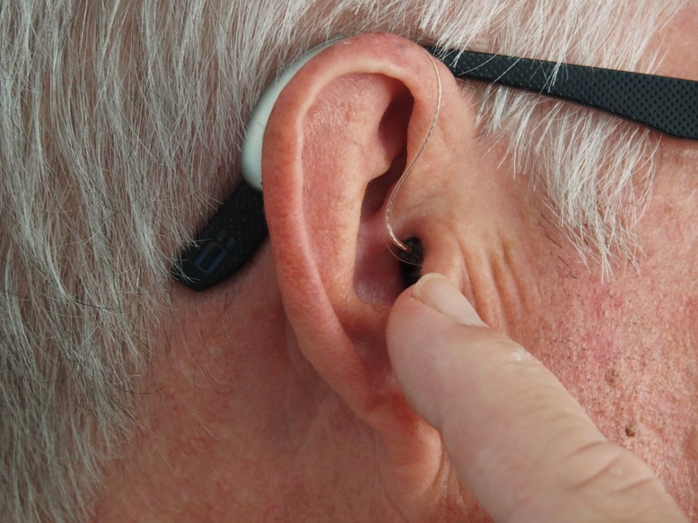 a man with hearing problem