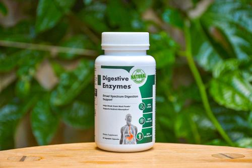 digestive enzymes bottle